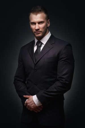 elegant business man: Confident businessman portrait Stock Photo