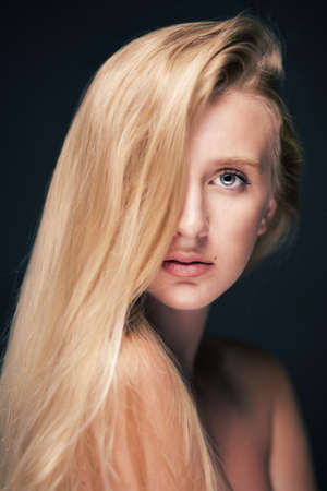 woman with long hair Stock Photo - 18787045