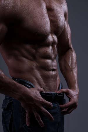 male torso: Strong athletic man torso