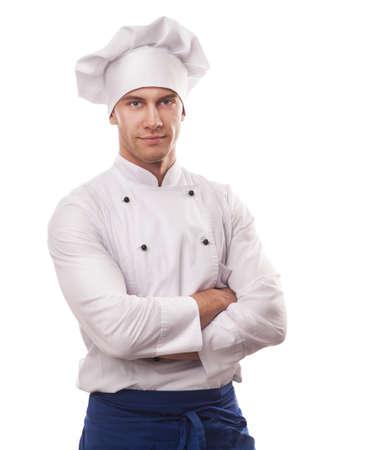 Een mannelijke chef-kok