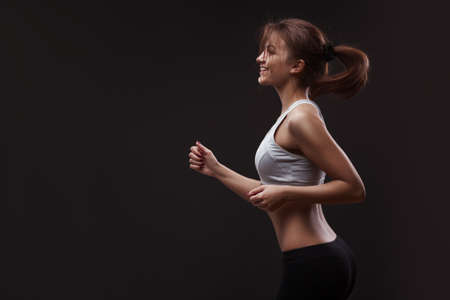 woman doing sports exercises.