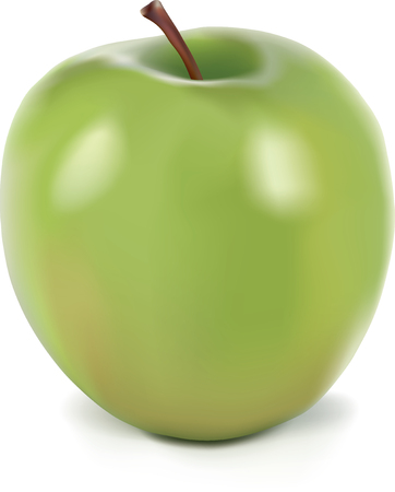 mesh: green apple with mesh gradient Illustration