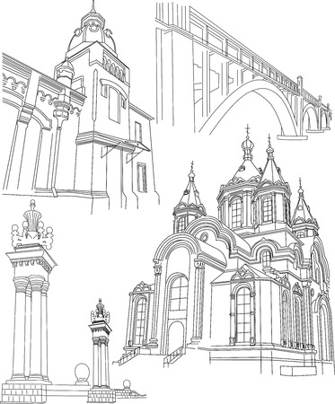 architecture contours Vector