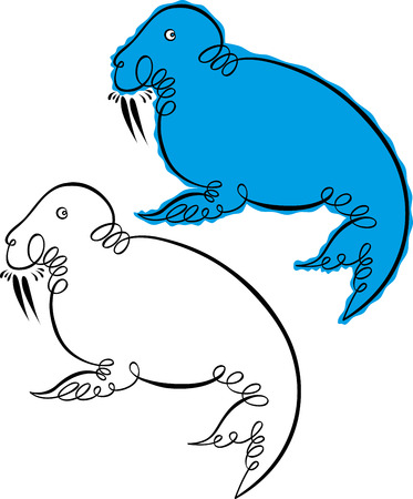 walrus: vector walrus