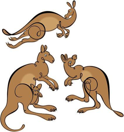 vector kangaroo Vector