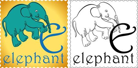 zoo alphabet elephant Vector
