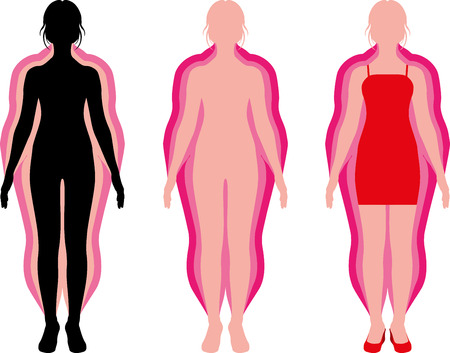 silhouette of a girl diet