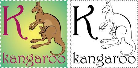 zoo alphabet kangaroo Vector