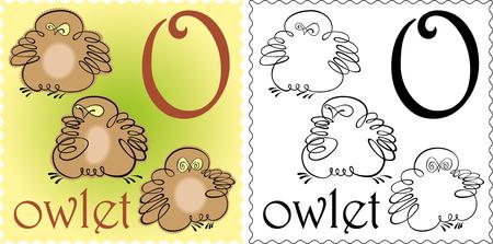 owlet: zoo alphabet owlet Illustration