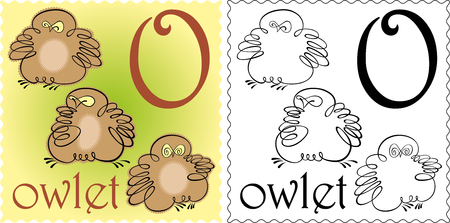 owlet: zool�gico alfabeto owlet Vectores
