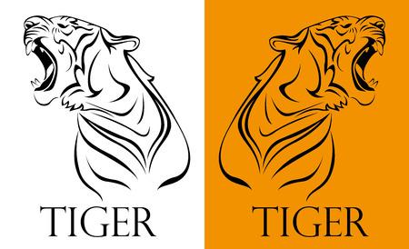 silueta tigre: tatuaje logotipo del tigre