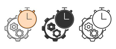 Efficiency icon set in different style. Illustration