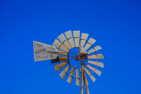Old Windmill In Texas