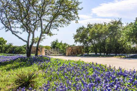 텍사스에서 멋진 목장 문