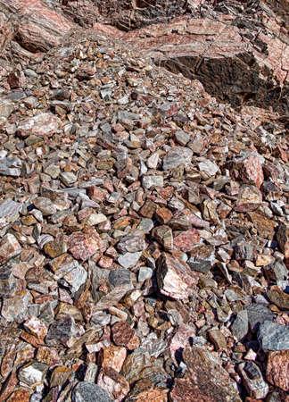 rockslide: Rock slide and scree Stock Photo