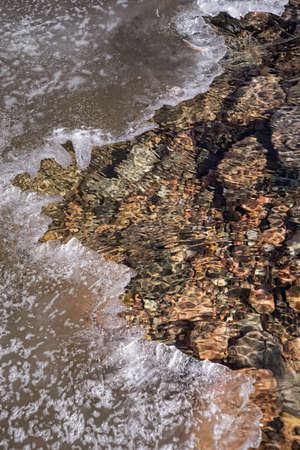 frozen creek: Broken Ice In Stream
