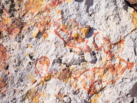 oxide: Iron Oxide In Rock Stock Photo