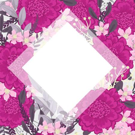 Cute flower border - hot pink flowers