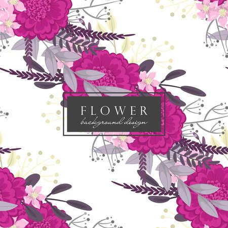 Background flower - hot pink flowers seamless pattern