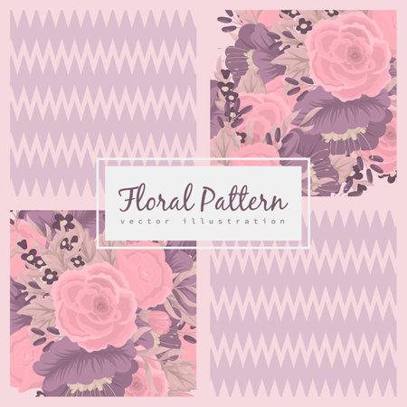 Seamless flower pattern. Vector illustration design