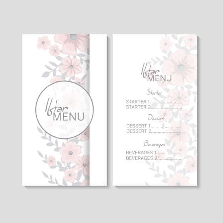 Arabic meals restaurant menu. Ramadan greeting card. Iftar party vector