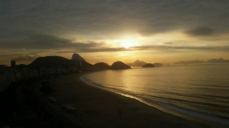 Copacabana sunrise rio de janeiro brazil  Zdjęcie Seryjne