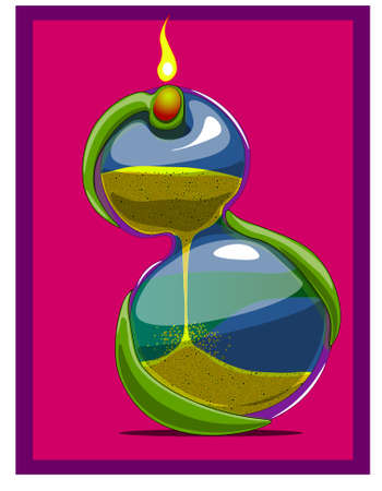 Hourglass - they count down a certain period of time with the help of crumbling sand.