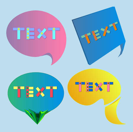 The image consists of four types of dialog boxes with the inscription text.