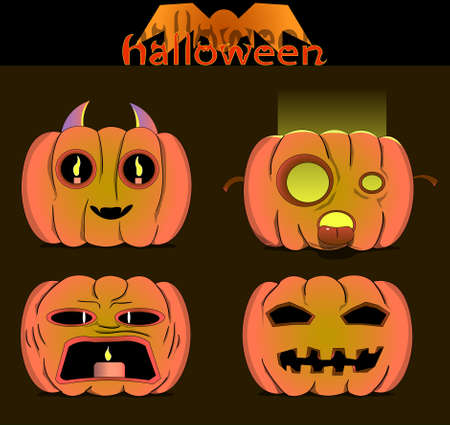 Picture of four. There is also the inscription halloween. Ilustração