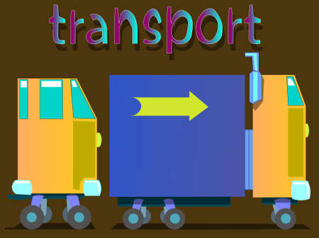 The image of vehicles of different types. The first car is a car. Also there is the word transport.