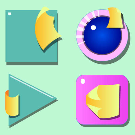 Image of several multicolored shapes Illustration