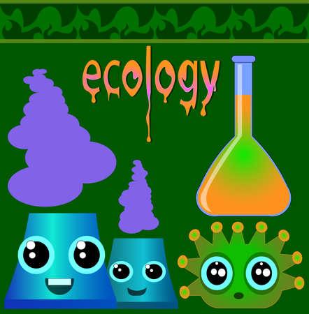 Image of several objects. Ilustração