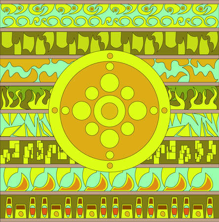 Abstract patterns arranged horizontally