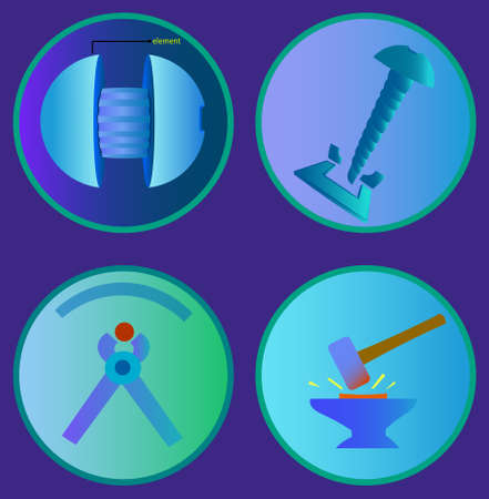 De afbeelding bestaat uit verschillende objecten en gereedschappen.