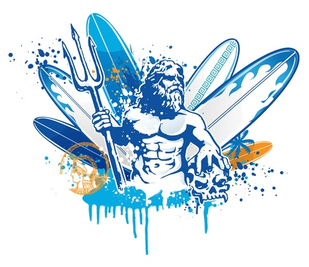 zeus: poseidon surfer