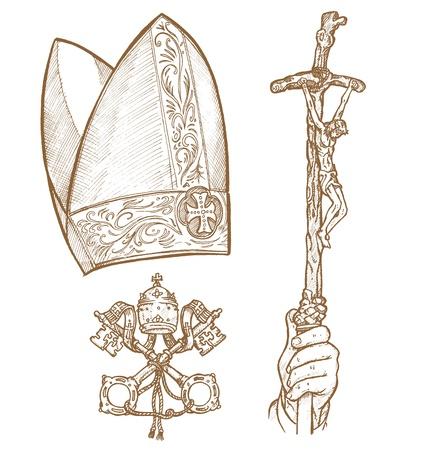 catholic symbols:   vatican symbol
