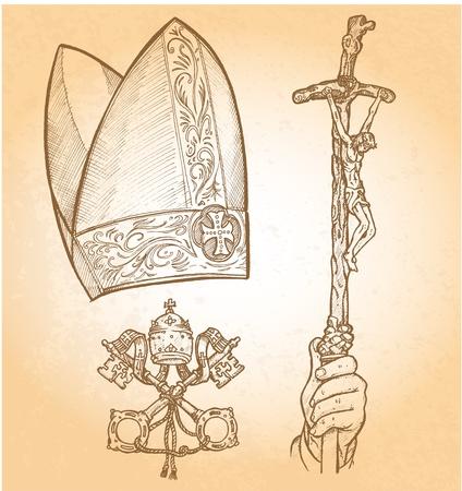 pape:   vatican symbol