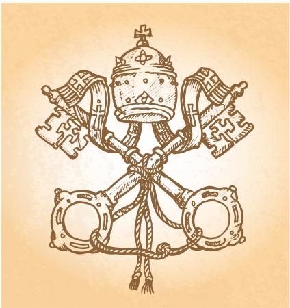 vatican city:   vatican symbol