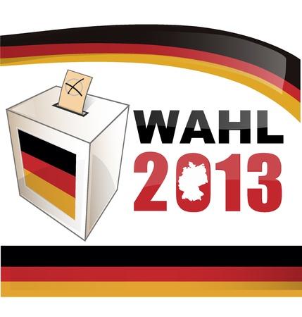 political rally: Выборы в Германии Иллюстрация