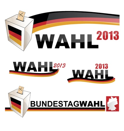 campaigning: German elections Illustration