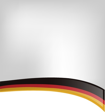 menu land: background with germany flag Illustration