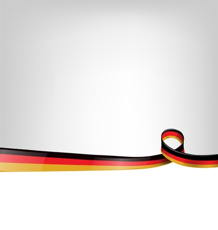 made in germany: background with germany flag Illustration