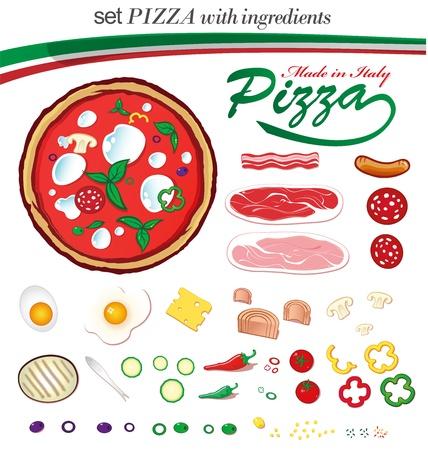 mozzarella cheese: pizza ingredients