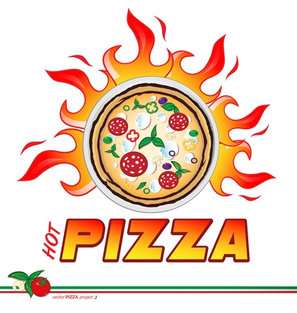 hot pizza  project  Vector