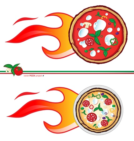 pizza place:   hot pizza  project  Illustration
