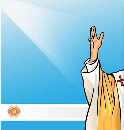pope: new pope with argentina flag