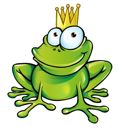 funny frog prince Stock Vector - 18514036