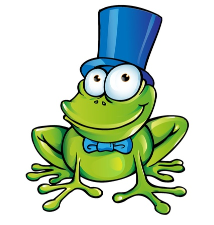 happy frog party  Vector