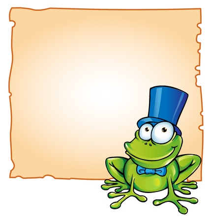 treefrog: party frog with background Illustration
