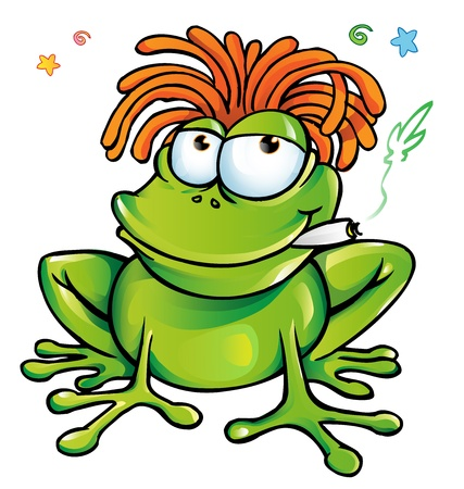 rasta: rasta frog cartoon